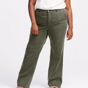 Brass Olive Scout Pant High-Waist Wide-Leg Size 8